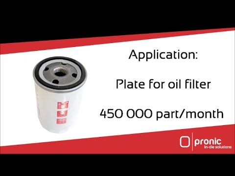 Automated tapping machine by Pronic for oil filter plate application