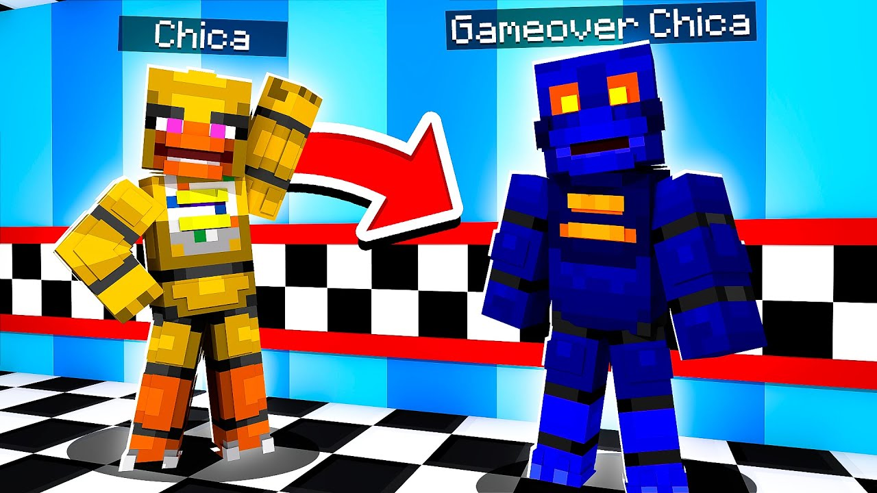 Gameover for CHICA | Minecraft Five Nights at Freddy's FNAF Roleplay