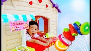 과일 도넛 사세요! 예준이의 가게놀이 음식 요리 색깔놀이 수박 파인애플 오렌지 바나나 케이크 햄버거 자동차 놀이 Fruit Donut Cake Store Kids Play