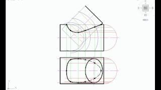 Пересечение двух цилиндров. Инженерная графика