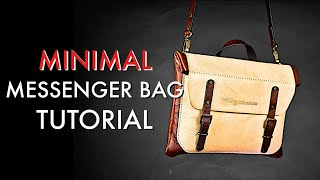Leather Messenger Bag DIY - Tutorial and Pattern Download