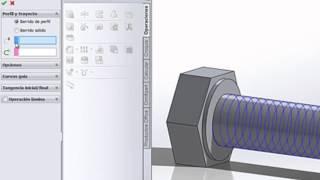 Como hacer un tornillo con solidworks