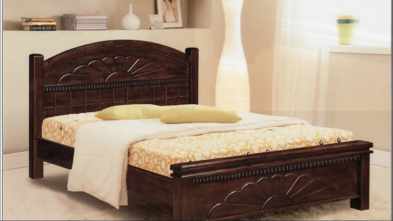 Wooden King Size Bed And Mattress Designs Youtube