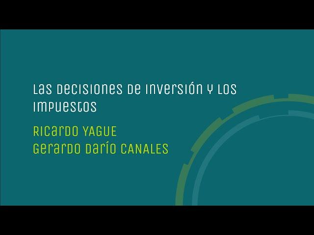 Las decisiones de inversión y los impuestos