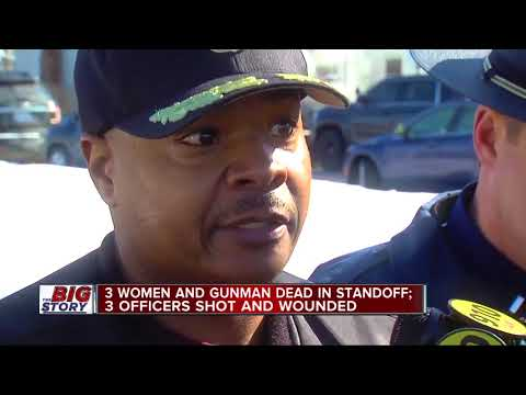 3 Detroit police officers shot, 3 women killed after barricaded gunman situation