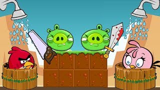 Angry Birds Take A Shower 2 - PIGGIES GOT MAD AFTER SHOWER BEING STOLEN!