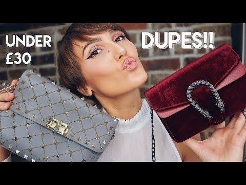 DESIGNER DUPE BAG HAUL, UNDER £30. GUCCI, CHLOE, VALENTINO | Blaise Dyer
