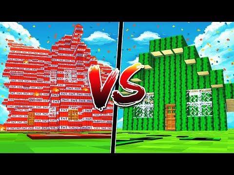 TNT MINECRAFT HOUSE VS CACTUS MINECRAFT HOUSE!