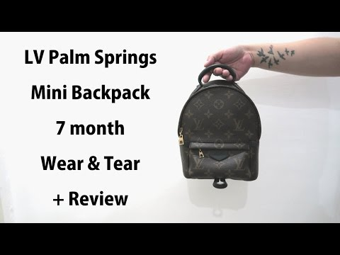 17e491fcbeba LV PALM SPRINGS MINI WEAR   TEAR REVIEW