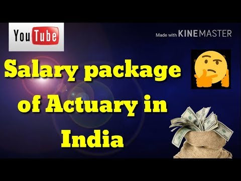Salary package of actuarial science in hindi in india