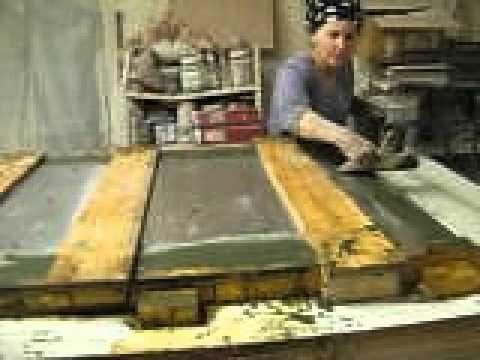 Scagliola casting of tabletops, MET movie #5 of 5