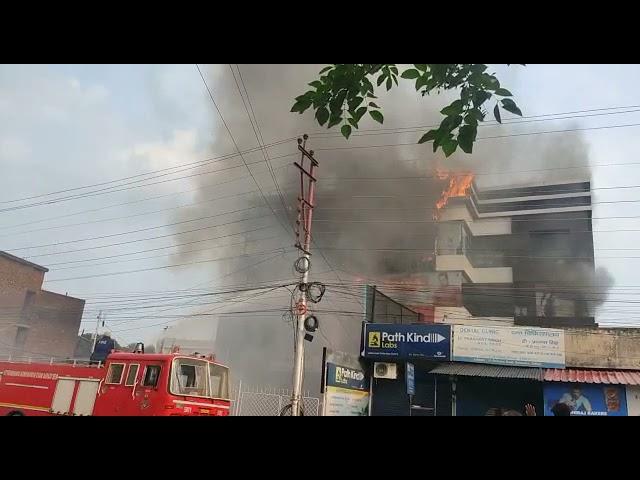 Dehradun a showroom caught fire