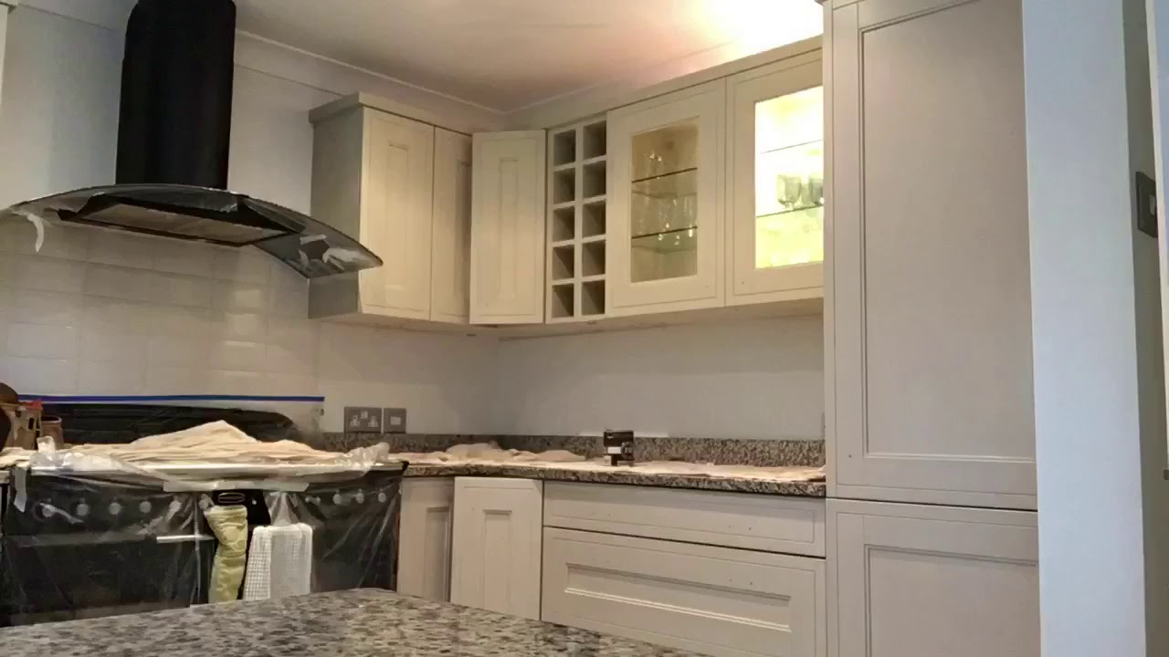 Hd Video Handpainted Kitchen Cabinets Upcycled Farrow And Ball Modern Eggshell