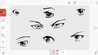 How to Draw anime eyes on flipaclip/Como desenhar olhos de animes no flipaclip (Tutorial)