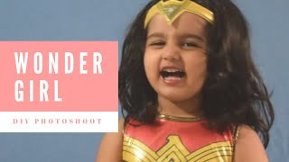 Creative baby photoshoot - Wonder Girl theme