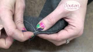 איך לעשות מכפלת נסתרת מקצועית לבגדים אלגנטיים/ How to sew a hidden hem stitch