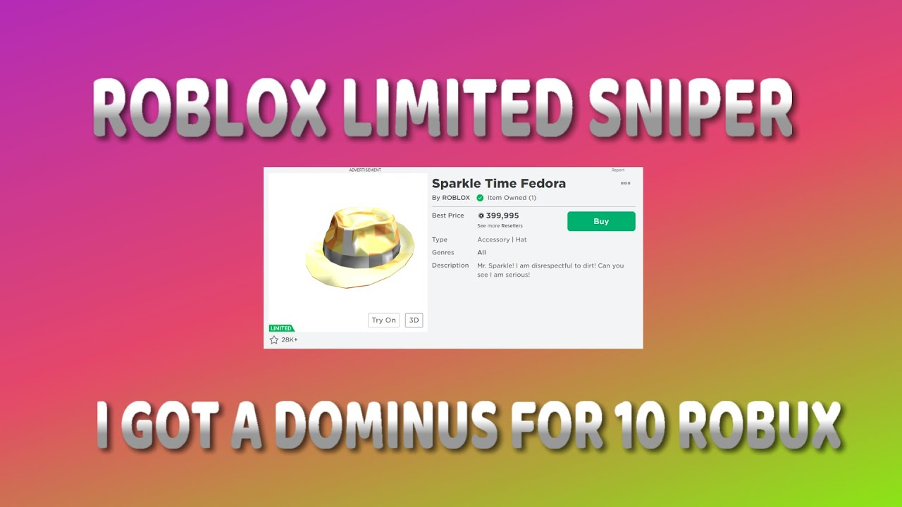 Roblox Limited Buying Bot Roblox New Limited Sniper 2020 Youtube