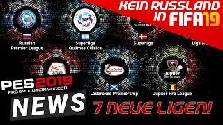 PES19 NEWS ● 7 neue lizenzierte LIGEN & KEIN RUSSLAND mehr in FIFA!!!