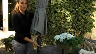 Coral Coast 9 Ft  Deluxe Auto Tilt Patio Umbrella - Product Review Video