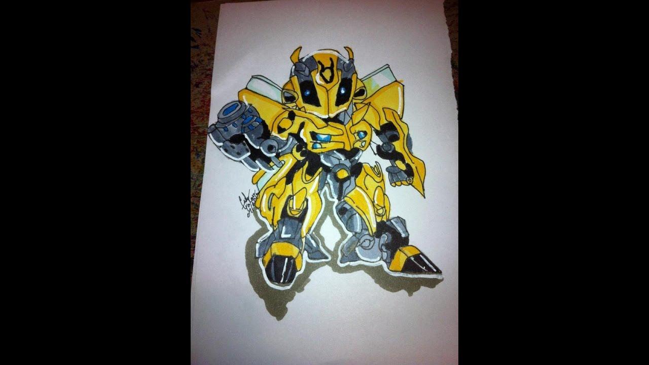 bumble bee coloring transformer