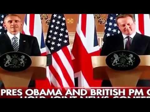 BBC's Laura Kuenssberg wipes smile from President Obama's face