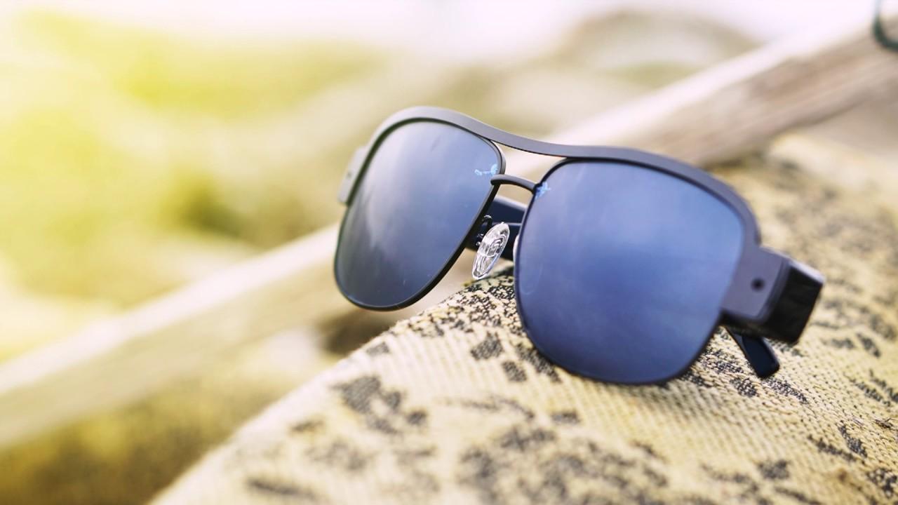 Slnečné okuliare so zabudovanou HD kamerou - YouTube 68112dd62f5