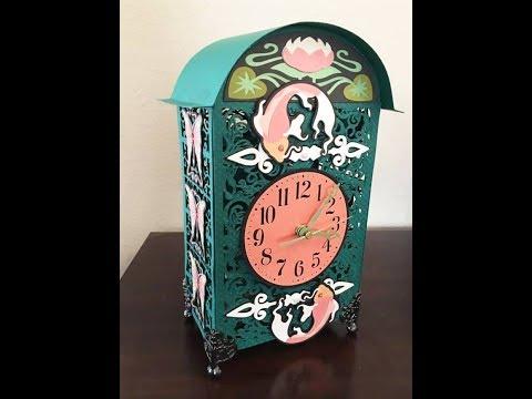 Cricut Art Nouveau paper clock made in Design Space