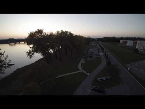 My First Flight!  Yuneec 4K over the Ohio River.