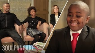 Kid president's book club with the cast of annie!