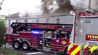STOCKTON NEW JERSEY 3RD ALARM WORKING STRUCTURE FIRE 5/3/16 HUNTERDON COUNTY ROSEMONT CAFE