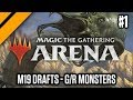 Magic the Gathering: Arena M19 Drafts - G/R Monsters P1 (sponsored)