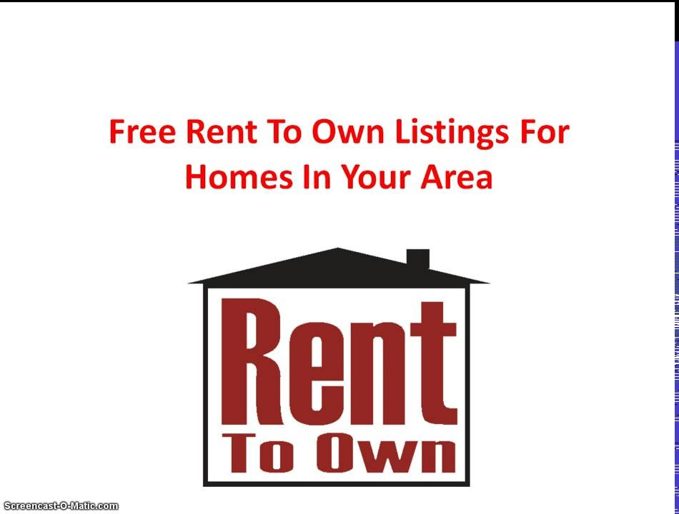 Free Rent To Own Listings For Homes In Your Area - Youtube