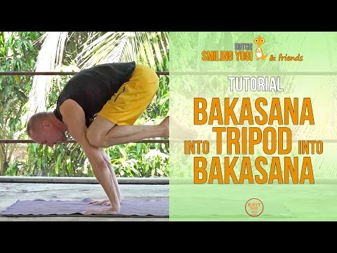 bakasana into tripod into bakasana  power yoga transition