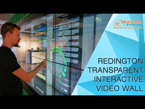 Transparent Interactive Video Wall - Redington