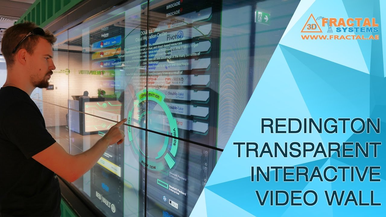 Transparent Interactive Video Wall Redington Youtube