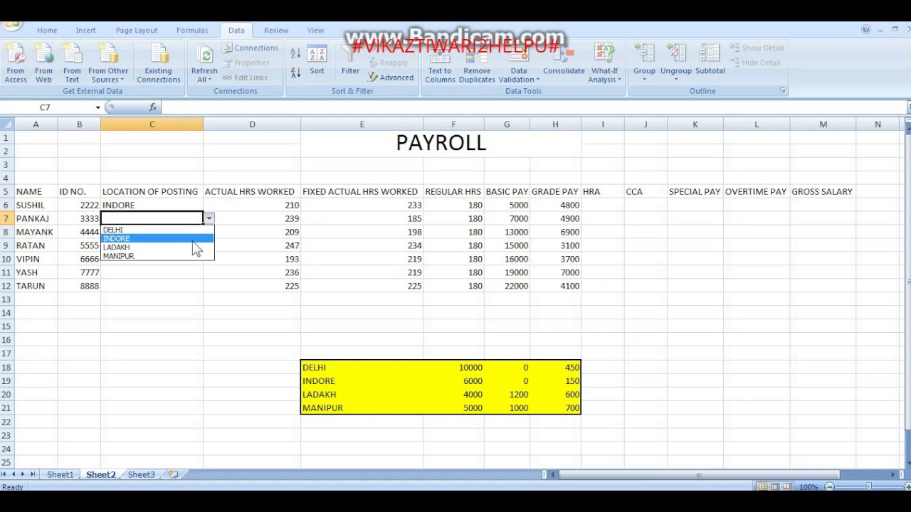 how to make payroll sheet in excel youtube
