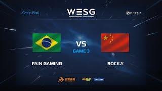 Pain Gaming против Rock.Y, Третья карта, WESG 2017 Grand Final