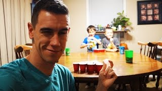 BEER PONG WITH THE KIDDOS!
