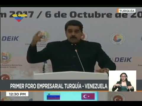 Presidente Nicolás Maduro en reunión con empresarios en Turquía, 6 octubre 2017