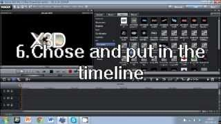 Fast way how to make 3D title in Magix Movie Edit Pro