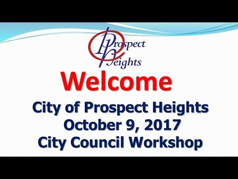 October 9, 2017 City Council Workshop