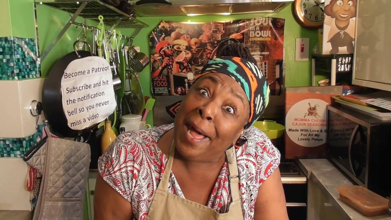 Momma Cherri's soul food shack spinach and ham tart recipe - YouTube