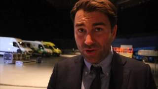 EDDIE HEARN REACTS TO EGGINGTON-GAVIN THRILLER, OGOGO DEFEAT & EXPECTS KLITSCHKO OUTCOME ON MON/TUE