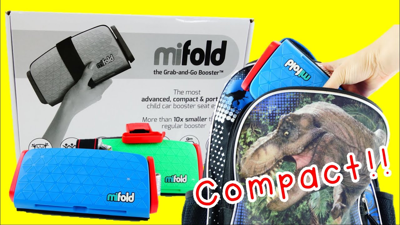 MiFold Grab And Go Booster Seat Review Compare With Bubble Bum Graco Mifold