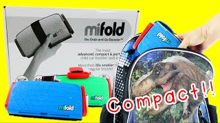 MiFold Grab and Go Booster Seat Review and Compare with Bubble Bum and Graco booster #mifold