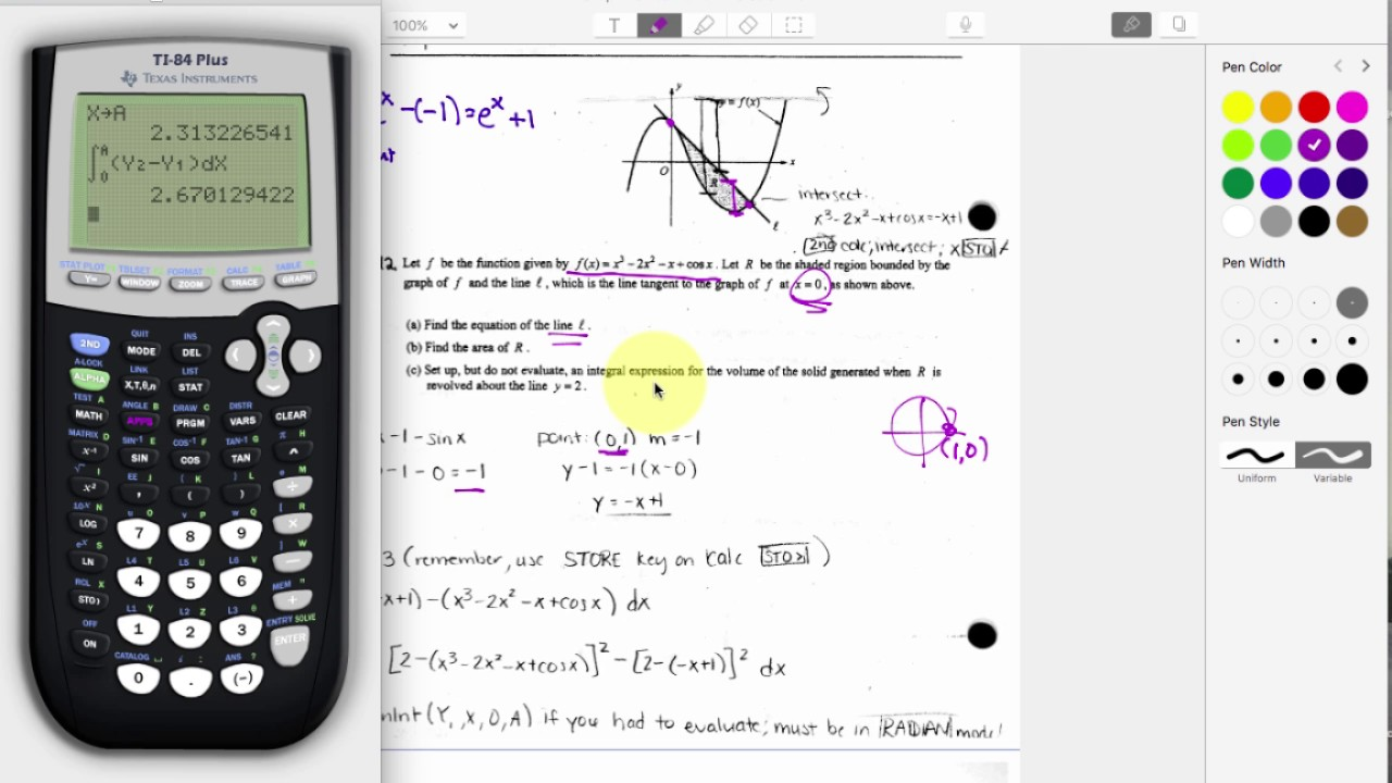 AP Calc: Quick Ch 6 Test Review - Applications of Integrals - YouTube