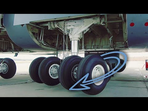 View Of C-5 Landing Gear You Normally Don't Get To See (Landing Gear Swing)