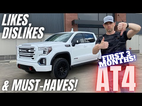 2021 GMC Sierra AT4 Crew Cab 3 Month Review.   Replaced My Old Denali with a Factory Lifted Truck!