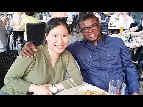 Asian review with black man
