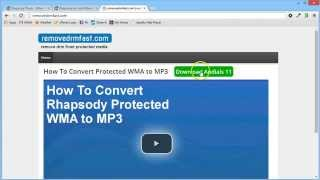 Convert Rhapsody Protected WMA to MP3 [UPDATED]